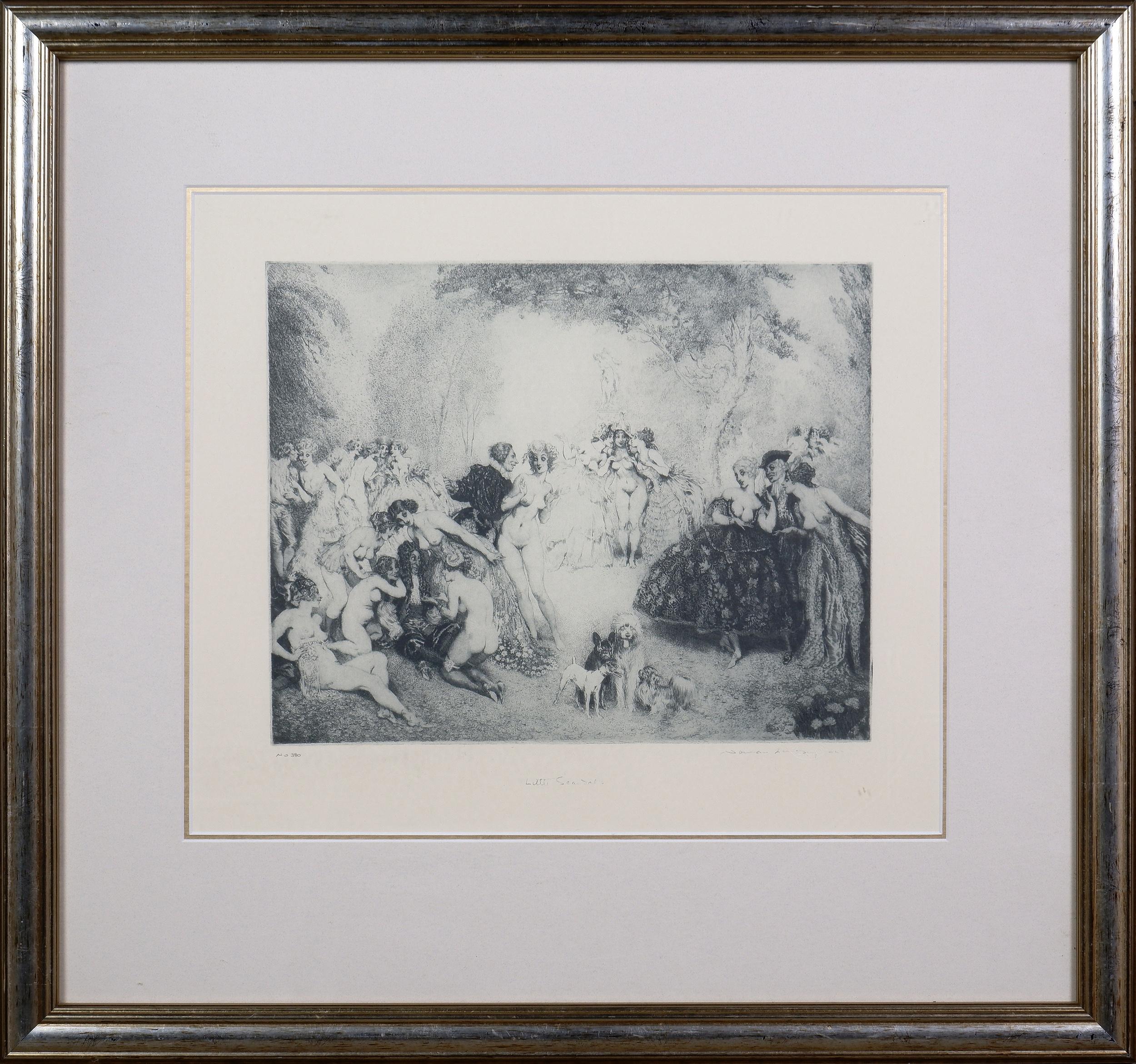 'Norman Lindsay (1879-1969), Little Scandals, Facsimilie Etching'