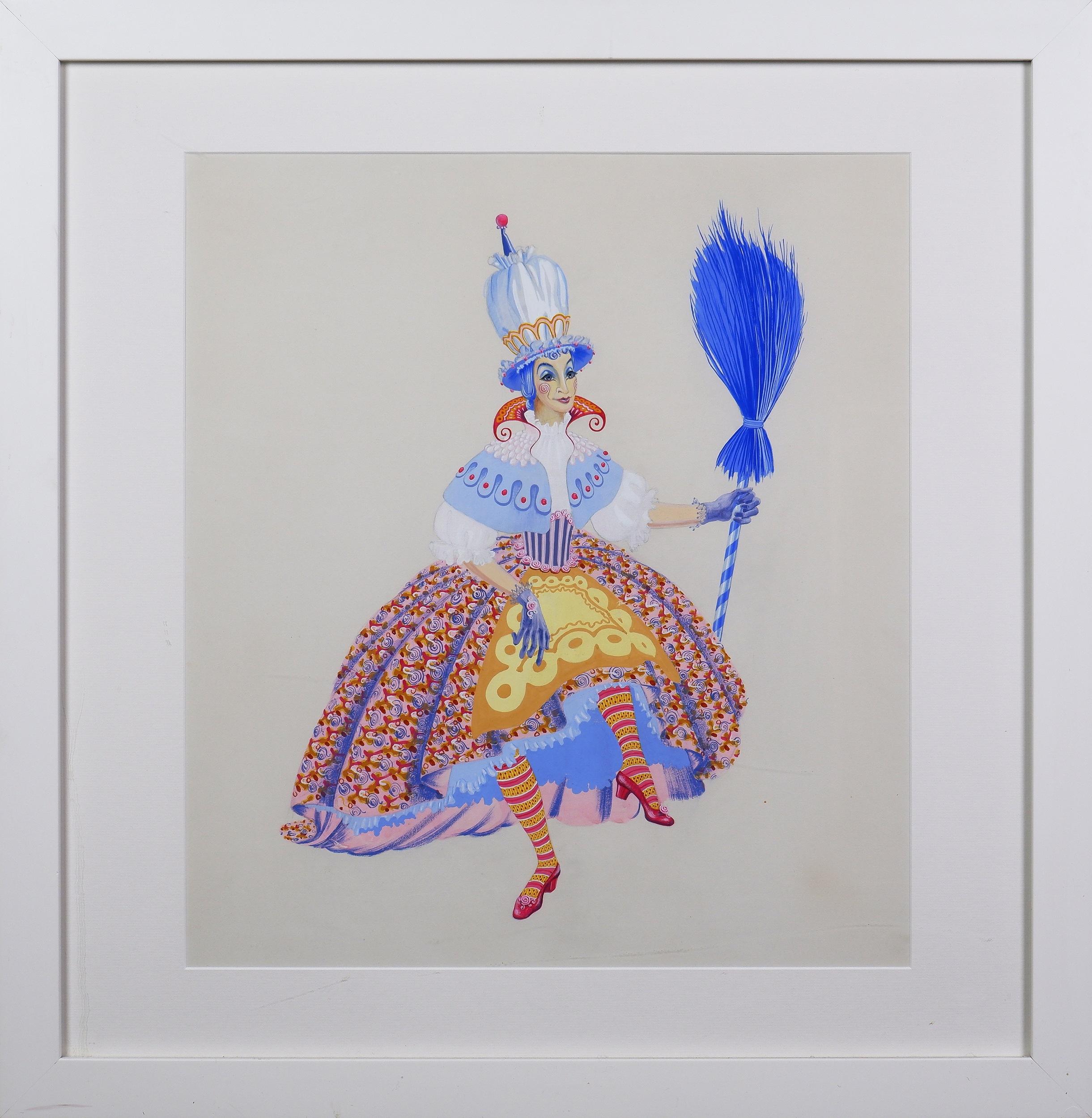 'Loudon Sainthill (1919-1969), Untitled (Cinderella Costume Design), Gouache, Pencil and Watercolour on Paper'