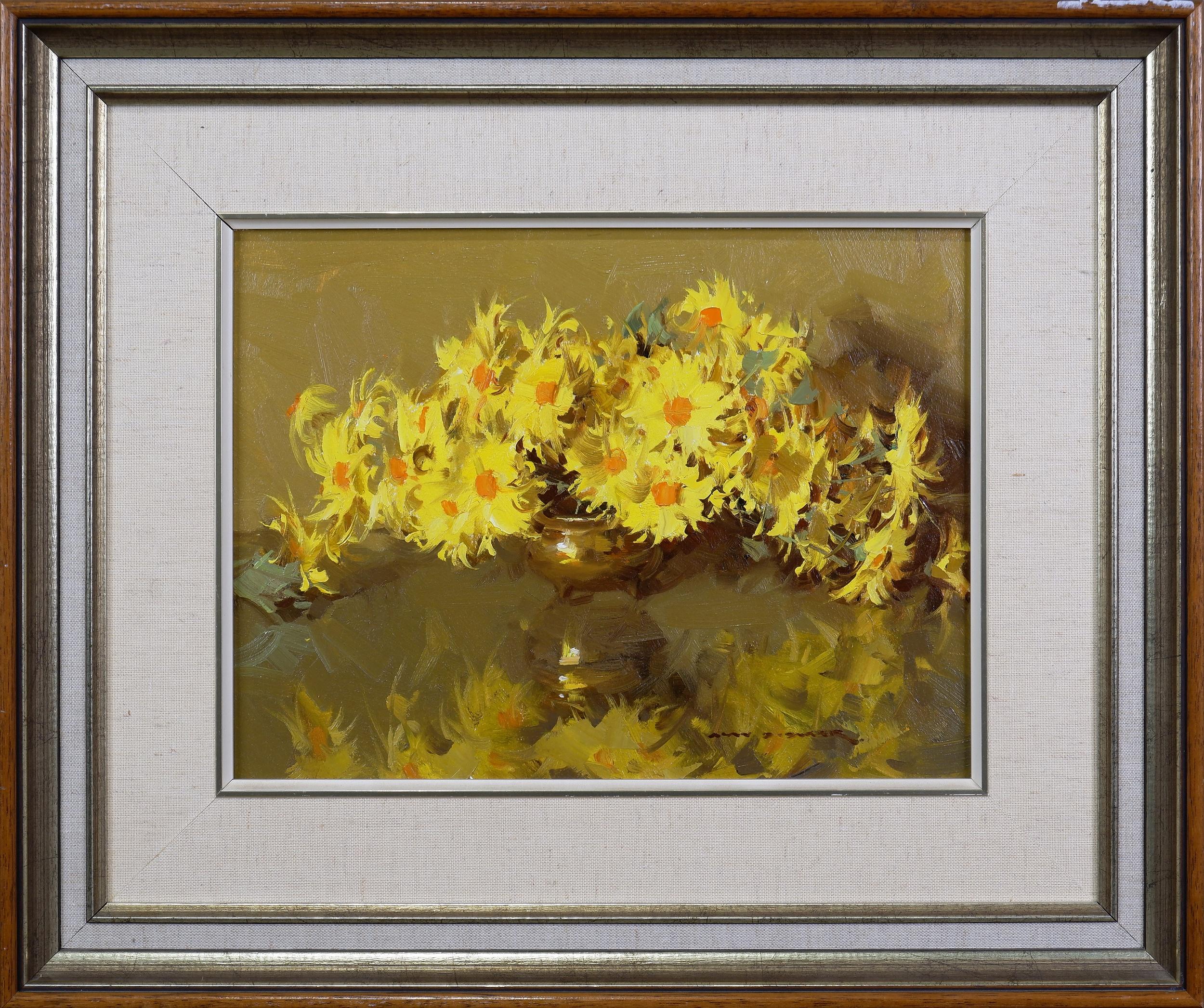 'Alan D. Baker (1914-1987), Floral Still Life, Oil on Board'