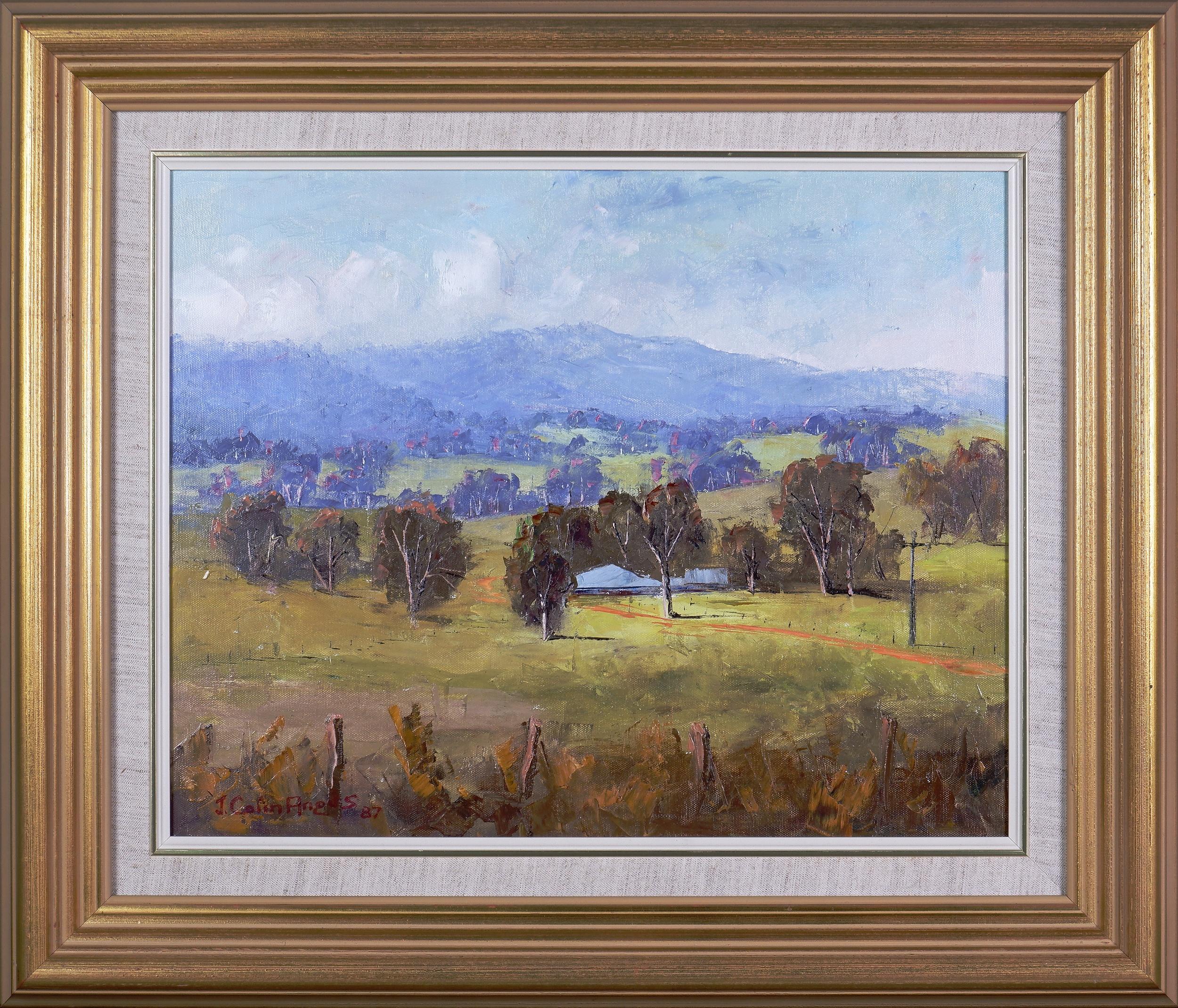 'J. Colin Angus (1907-2002), Baranduda Pastoral 1987, Oil on Canvas on Board'