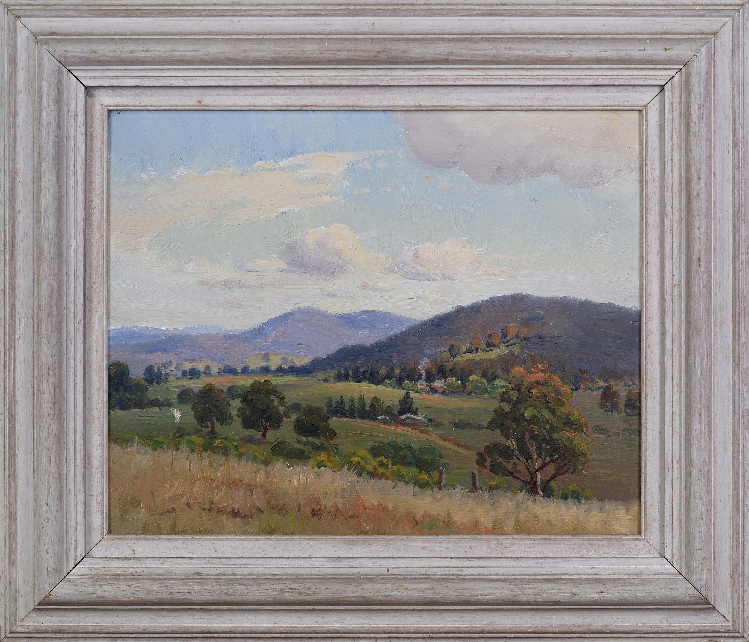 'Erik Langker (1898-1982), Landscape Near Cooma, Oil on Board'