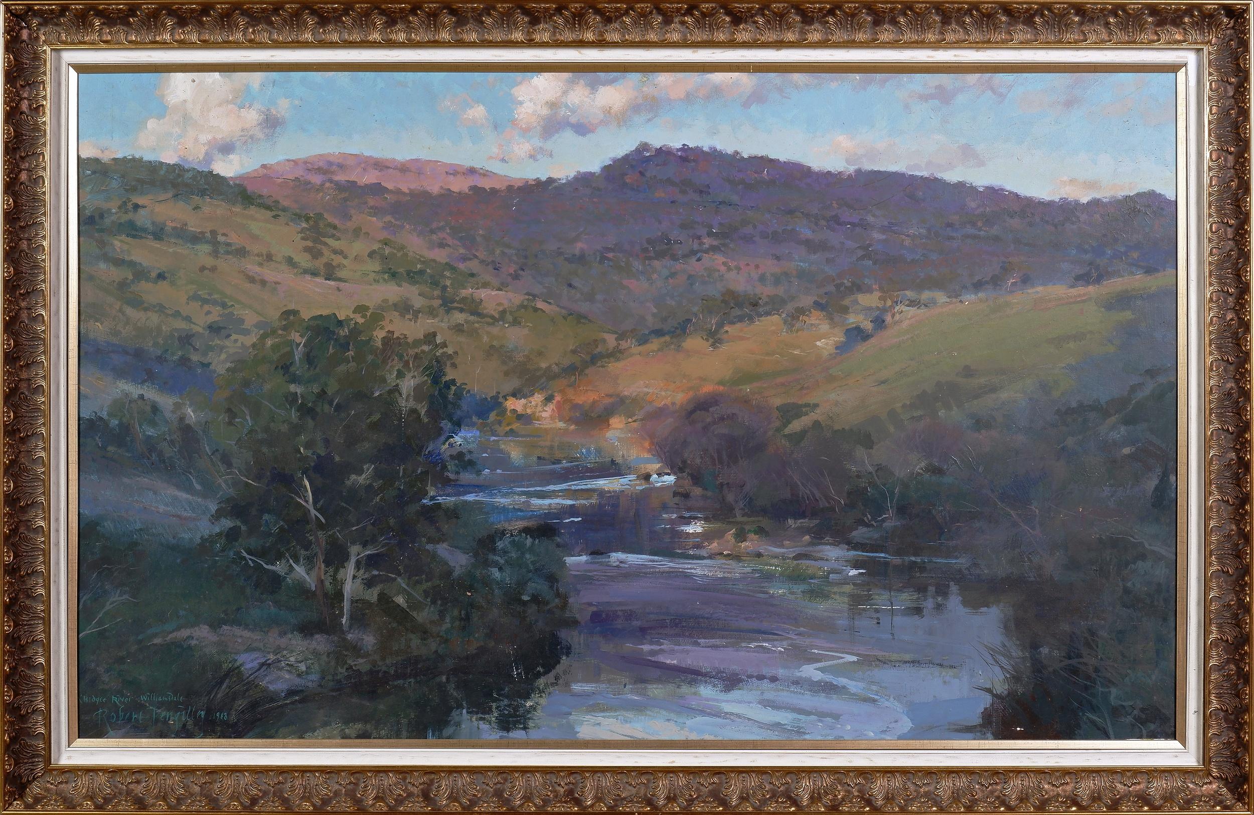 'Robert Pengilley, Murrumbidgee River, Williamsdale, Oil on Board'