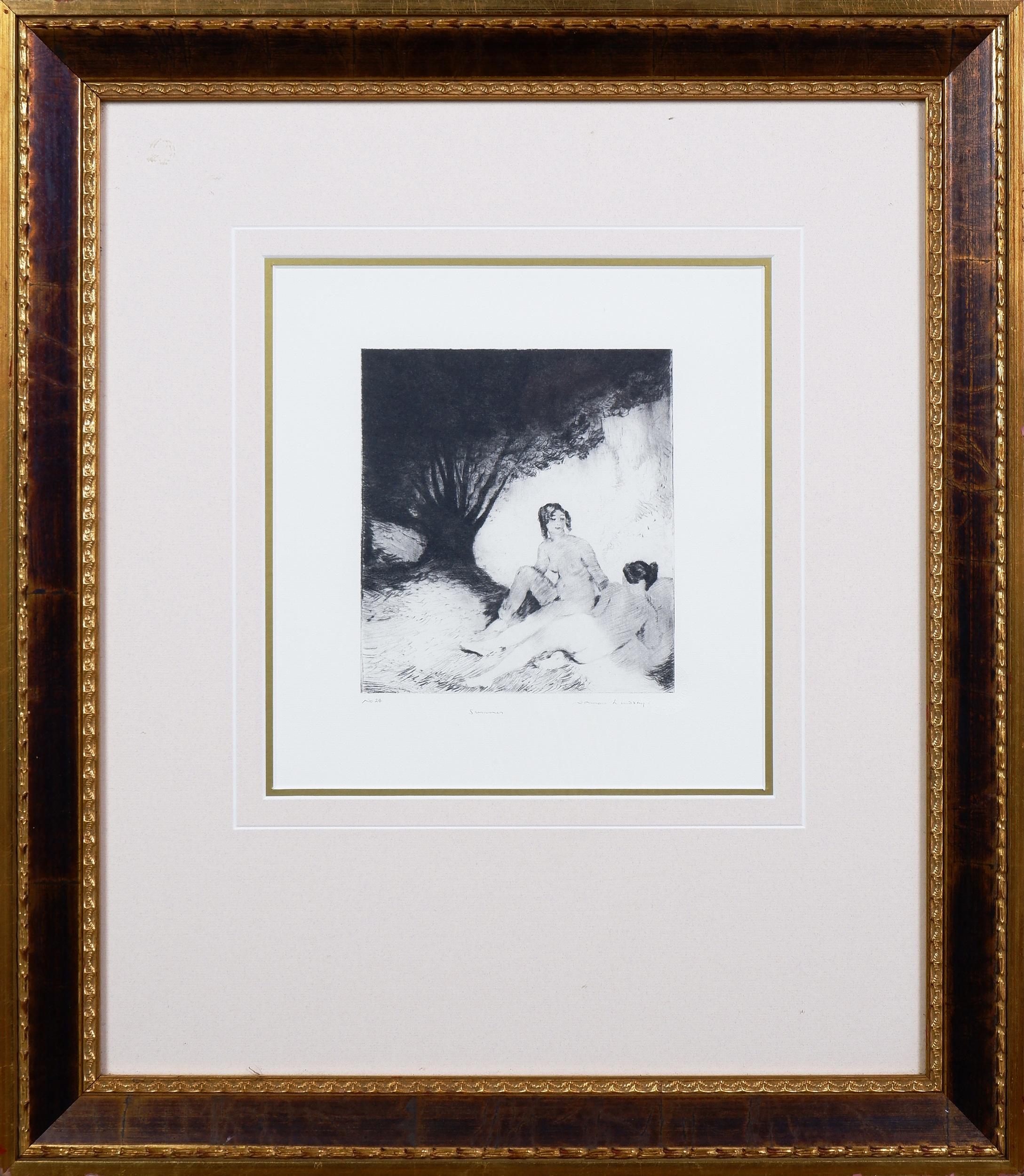 'Norman Lindsay (1879-1969), Summer, Facsimilie Etching'