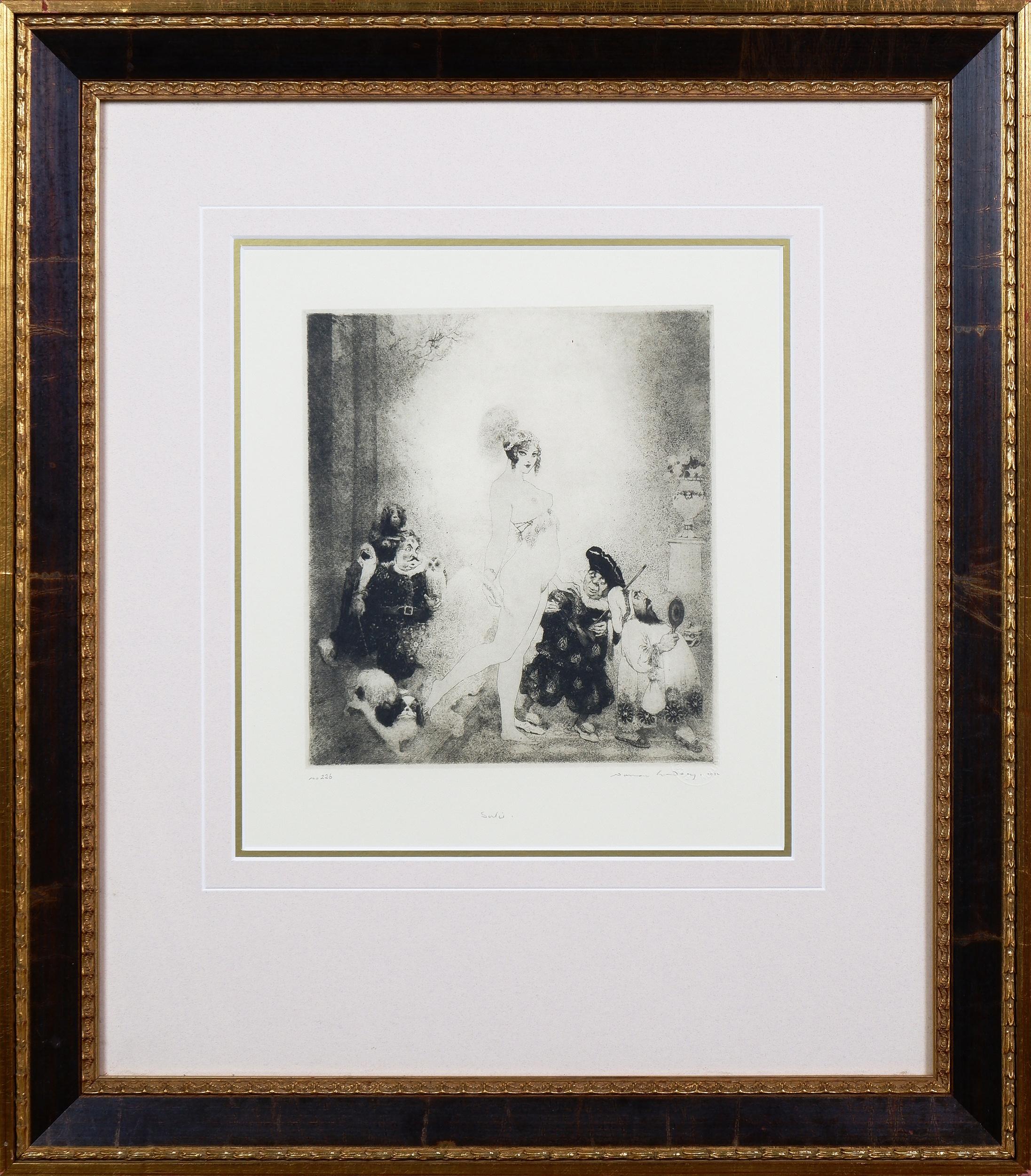 'Norman Lindsay (1879-1969), Sortie, Facsimilie Etching'