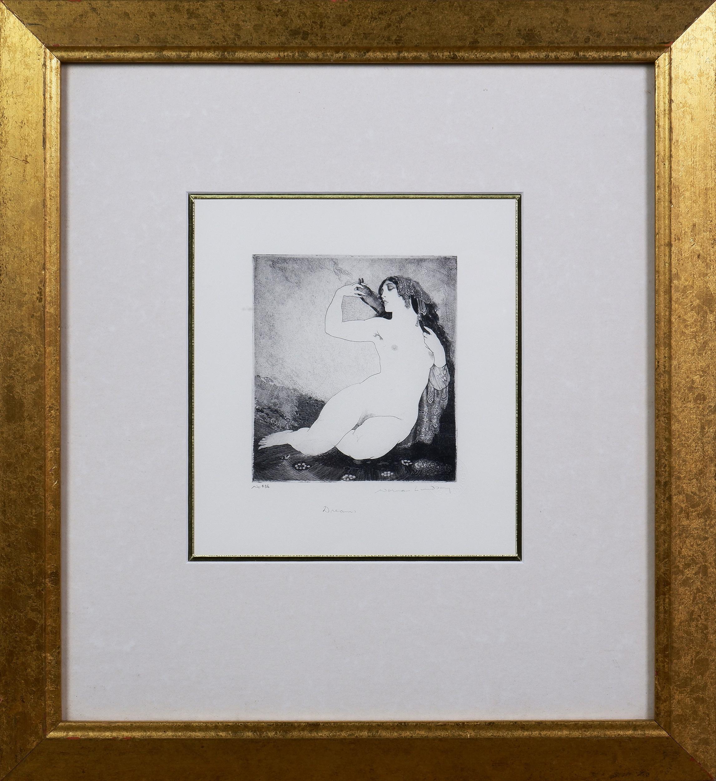 'Norman Lindsay (1879-1969), Dreams, Facsimilie Etching'