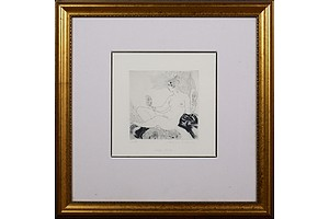 Norman Lindsay (1879-1969), Which Mask?, Facsimilie Etching