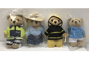 Care Flight Plush Toys -Lot Of Four