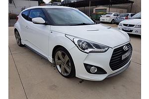 1/2013 Hyundai Veloster SR Turbo FS MY13 3d Coupe White 1.6L
