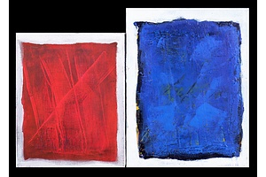 Perrod, Little Red & Blue, Acrylic on Canvas (2)