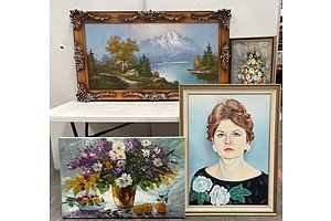 5 Original Artworks & A Monet Print