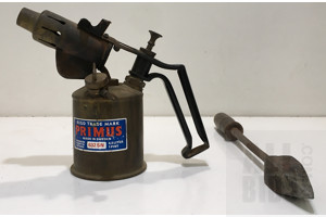 Vintage Primus Stove And Soldering Iron