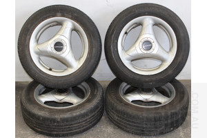 Set Of Four 14 Inch Alloy Wheels With Tyres