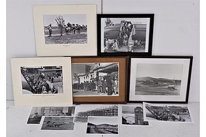 Quantity of Vintage Photographs Including Early Canberra Construction, Scullin Arriving in Canberra in the 1930s and More