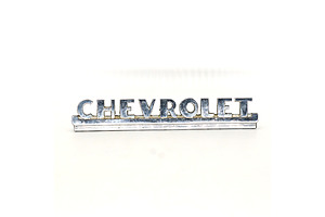 Vintage Chromed Chevrolet Badge