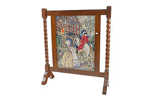 Antique Maple and Tapestry Firescreen