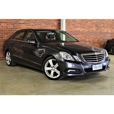 9/2009 Mercedes-Benz E250 CDI Avantgarde W212 4d Sedan Tenorite Grey 2.1L