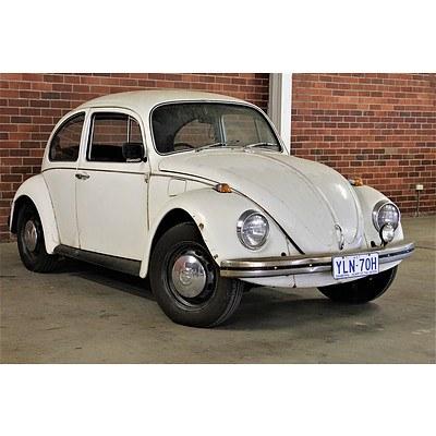 10/1970 Volkswagen 1500 Beetle 2d Sedan White 1.5L