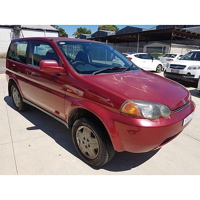 8/1999 Honda Hr-v (4x4)  2d Wagon Red 1.6L