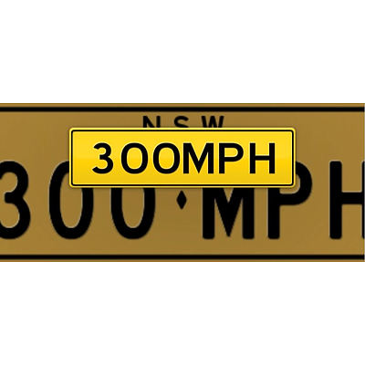 NSW Number Plates  300MPH