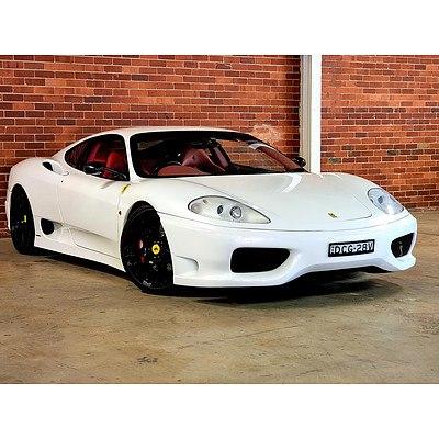 8/1999 Ferrari 360 Modena F1 'Challenge Stradale Replica' 2d Coupe Pearl White 3.6L V8