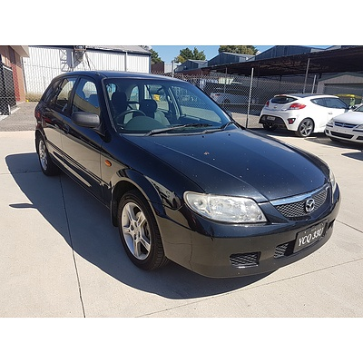 10/2003 Mazda 323 Astina  5d Hatchback Black 1.8L