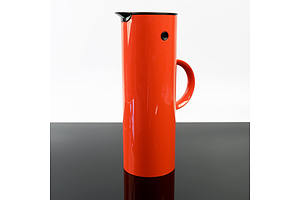 Stelton of Denmark Orange vacuum Flask - Designed by Erik Magnussen