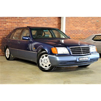 4/1992 Mercedes-Benz 500 SEL W140 4d Sedan Nautical Blue 5.0L V8