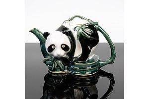 Unusual Panda Bear Porcelain Teapot
