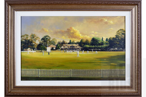 Dave Thomas, Untitled 2004 (Towards the Pavilion) Oil on Canvas, Image Size 46 by 74cm