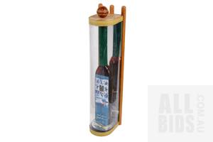 Limited Edition Lance Klusener Man of the Series Signed 1998 Bakenskop Muscadel 675ml Cricket Bat Shaped Bottle in Revolving Display Case, 46/281