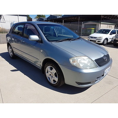 2/2003 Toyota Corolla Conquest SECA ZZE122R 5d Hatchback Blue 1.8L