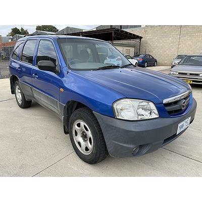 3/2003 Mazda Tribute Limited Sport  4d Wagon Blue 3.0L