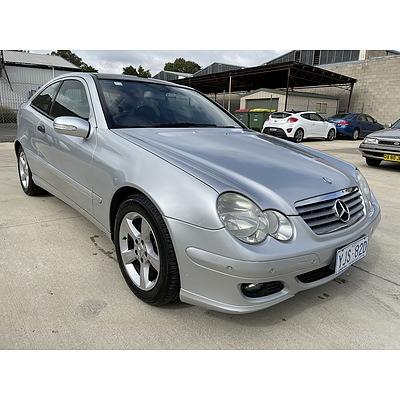 9/2006 Mercedes-Benz C180 Kompressor CL203 MY06 2d Coupe Silver 1.8L
