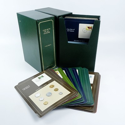 Franklin Mint Volumes I and II Coin Sets of All Nations