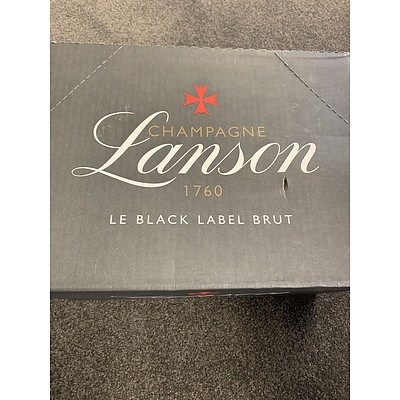 L71 - Six bottles of Champagne Lanson 1760 Le Black Label Brut