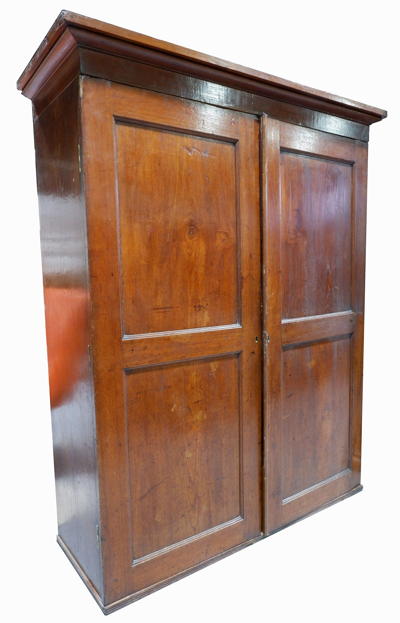 'Antique Cedar and Pine Shop Cabinet with Internal Pigeonholes and Drawers'