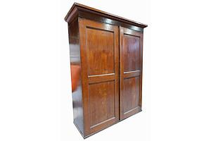 Antique Cedar and Pine Shop  Cabinet with Internal Pigeonholes and Drawers
