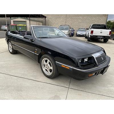 2/1992 Chrysler LeBaron Convertible Black 3.0L