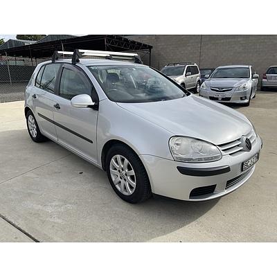5/2007 Volkswagen Golf 1.9 TDI Comfortline 1K 5d Hatchback Silver 1.9L