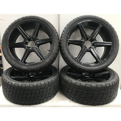 GMR 24 Inch Rims with Nitto A/T Tyres