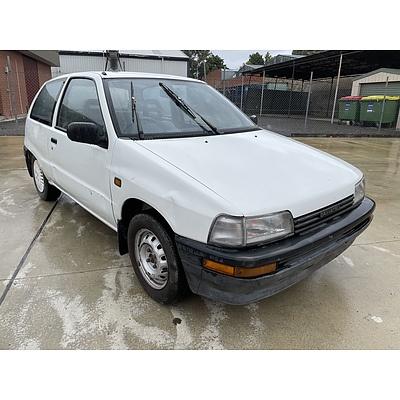 6/1992 Daihatsu Charade TS  3d Hatchback White 1.0L