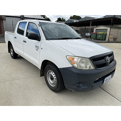 4/2007 Toyota Hilux Workmate TGN16R 07 UPGRADE Dual Cab P/up White 2.7L