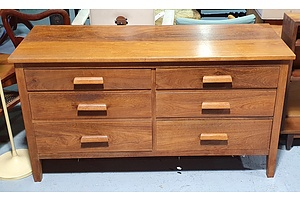 Contemporary Teak Chest of Drawers