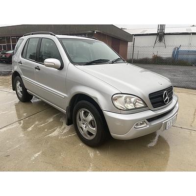 2/2003 Mercedes-Benz Ml 350 Luxury (4x4) W163 4d Wagon Silver 3.7L