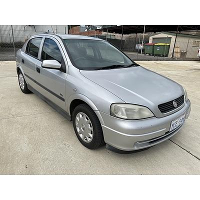 7/2002 Holden Astra CITY TS 5d Hatchback Silver 1.8L