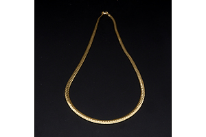 Italian 9ct Yellow Gold Snake Chain, 7g