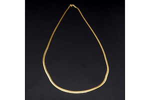 Italian 9ct Yellow Gold Snake Chain, 3g
