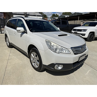 3/2011 Subaru Outback 2.0D MY11 4d Wagon White 2.0L