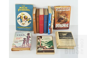 13 Vintage Books Relating to Australian Including Coonardoo by K S Prichard, 1929, The Timeless Land by E Dark, Green Mountains by B O'Reilly, The Magic pudding by Norman Lindsey and More