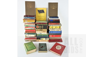 Quantity of Approximatley 60 Vintage Books of Mixed Subjects Including The Cruise of the Thetis by H Collingwood, A Book of Nature Myths by F Holbrook, The Pawky Scot by G Moffat and Much More
